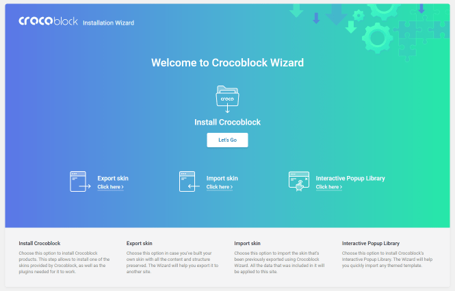 How to Install Crocoblock with Wizard