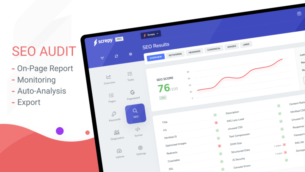 Screpy is the only SEO tool you'll need